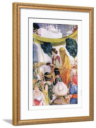 The Bride Entered the City-Anne Anderson-Framed Giclee Print