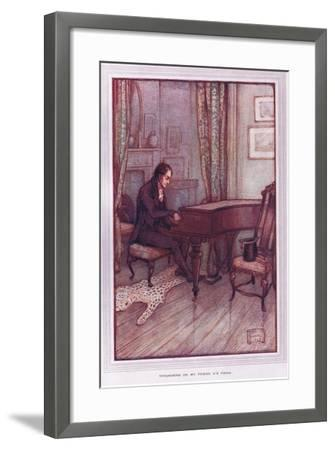 Thrumming on My Friend A's Piano-Sybil Tawse-Framed Giclee Print