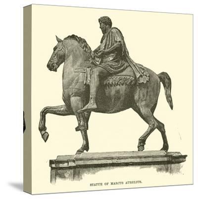 Statue of Marcus Aurelius--Stretched Canvas Print