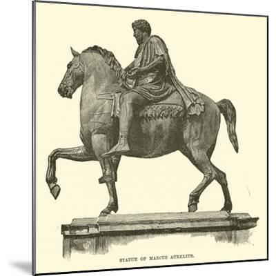 Statue of Marcus Aurelius--Mounted Giclee Print