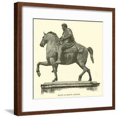 Statue of Marcus Aurelius--Framed Giclee Print
