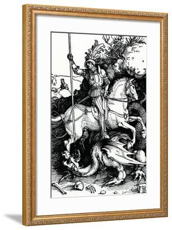 St. George and the Dragon, 1504-Albrecht D?rer-Framed Giclee Print