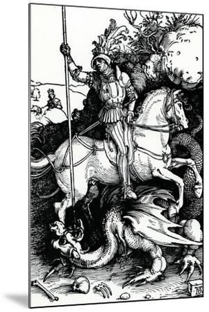 St. George and the Dragon, 1504-Albrecht D?rer-Mounted Giclee Print