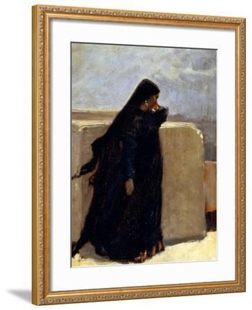 Woman Dressed in Black-Stefano Ussi-Framed Giclee Print