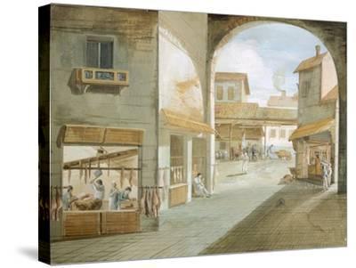 The Butcher's Shop-Giuseppe Bernardino Bison-Stretched Canvas Print