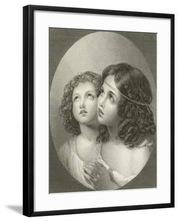 Thankful Children-Thomas Uwins-Framed Giclee Print