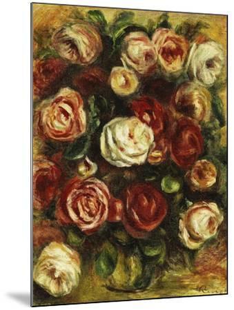 Vase of Roses-Pierre-Auguste Renoir-Mounted Giclee Print