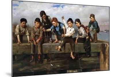 Boys Fishing, 1880-John George Brown-Mounted Giclee Print