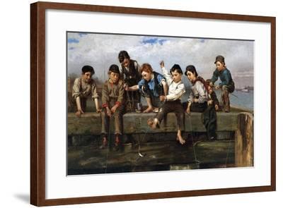 Boys Fishing, 1880-John George Brown-Framed Giclee Print
