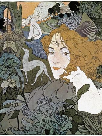 Diana, 1897-Georges de Feure-Framed Giclee Print