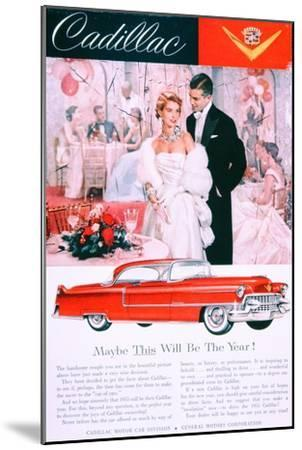 Advertisement for the 1955 Cadillac Car--Mounted Giclee Print