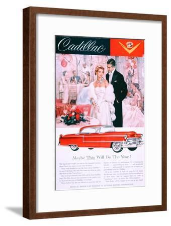 Advertisement for the 1955 Cadillac Car--Framed Giclee Print