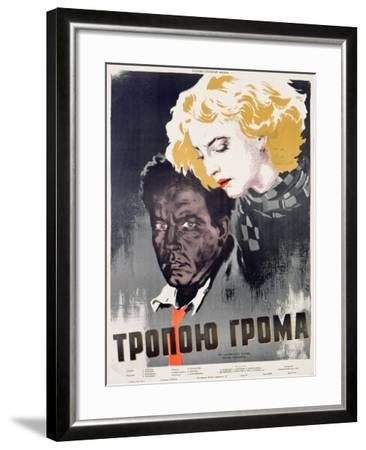 Soviet Film Poster, C.1956--Framed Giclee Print
