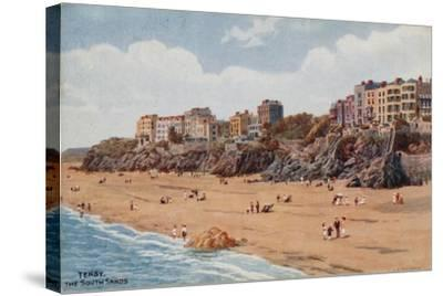 Tenby, the South Sands-Alfred Robert Quinton-Stretched Canvas Print