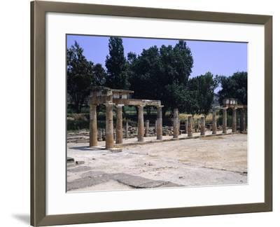 The Sanctuary of Artemis in Brauron--Framed Giclee Print