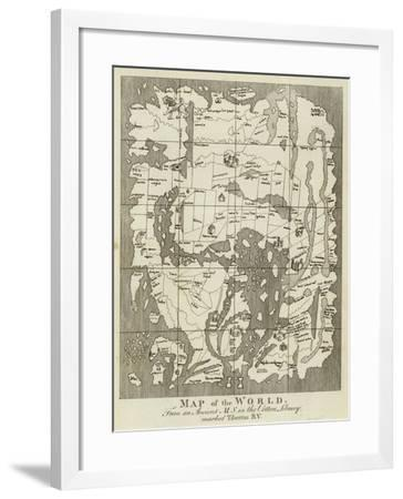Map of the World--Framed Giclee Print