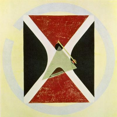 Proun 43, 1924-El Lissitzky-Stretched Canvas Print