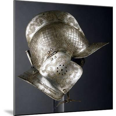 Burgonet Helmet--Mounted Giclee Print