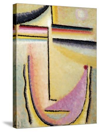 Abstract Head; Abstrakter Kopf, 1928-Alexej Von Jawlensky-Stretched Canvas Print