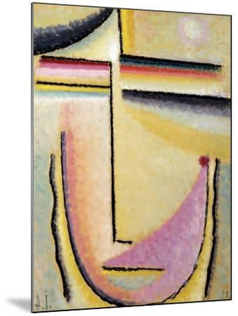 Abstract Head; Abstrakter Kopf, 1928-Alexej Von Jawlensky-Mounted Giclee Print