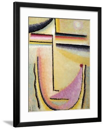 Abstract Head; Abstrakter Kopf, 1928-Alexej Von Jawlensky-Framed Giclee Print