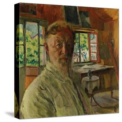 Self Portrait, 1931-Giovanni Giacometti-Stretched Canvas Print