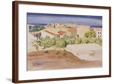 The Roofs of Collioure, C.1925-Rudolph Ihlee-Framed Giclee Print
