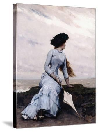 Looking Out to Sea-Charles Hermans-Stretched Canvas Print
