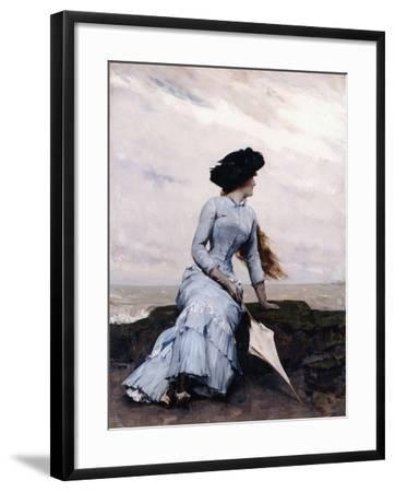 Looking Out to Sea-Charles Hermans-Framed Giclee Print