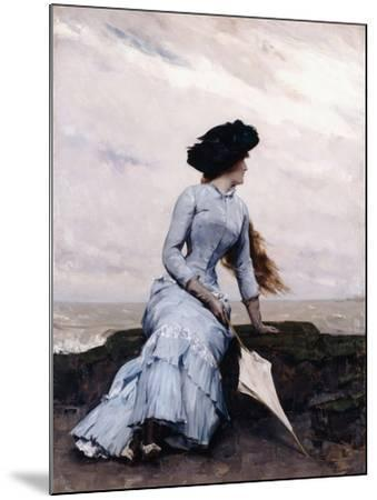 Looking Out to Sea-Charles Hermans-Mounted Giclee Print