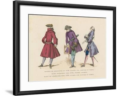 French Men's Fashions, 18th Century--Framed Giclee Print