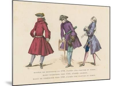 French Men's Fashions, 18th Century--Mounted Giclee Print