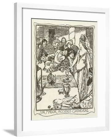 Sir Mador Accuses Guenevere-Henry Justice Ford-Framed Giclee Print