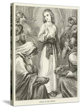 Christ in the Temple--Stretched Canvas Print