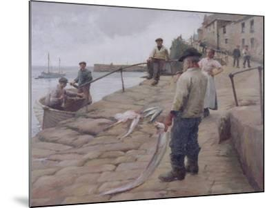 Mousehole Harbour, 1907-Harold Harvey-Mounted Giclee Print