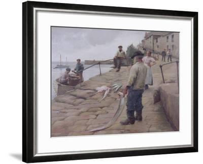 Mousehole Harbour, 1907-Harold Harvey-Framed Giclee Print