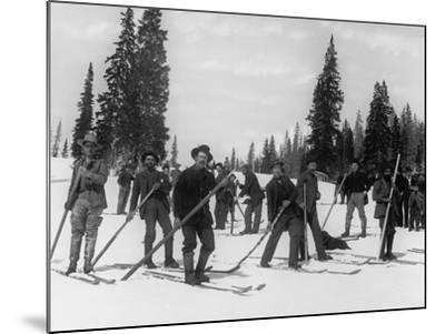A Ski Brigade, C.1910-20--Mounted Photographic Print