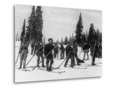 A Ski Brigade, C.1910-20--Metal Print