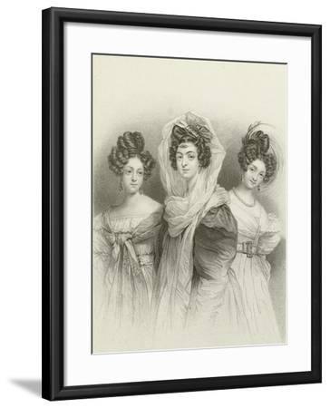 Three Beauties-Henri Grevedon-Framed Giclee Print
