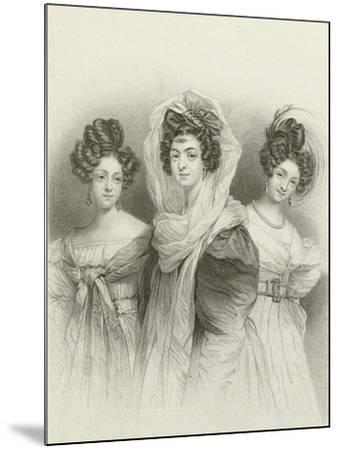 Three Beauties-Henri Grevedon-Mounted Giclee Print