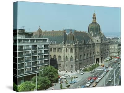 Exterior View, Built by Oedeon Lechner--Stretched Canvas Print