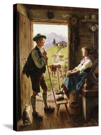 Tyrolean Couple-Emil Karl Rau-Stretched Canvas Print