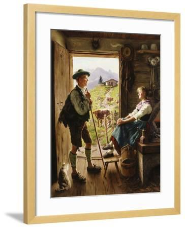 Tyrolean Couple-Emil Karl Rau-Framed Giclee Print