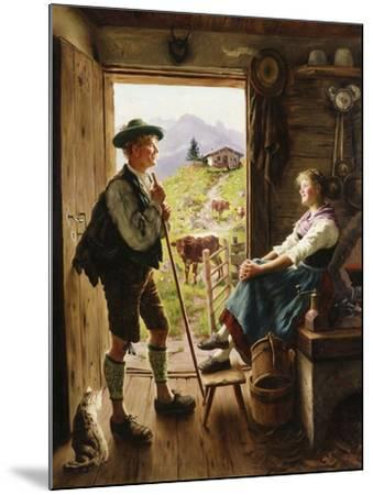 Tyrolean Couple-Emil Karl Rau-Mounted Giclee Print