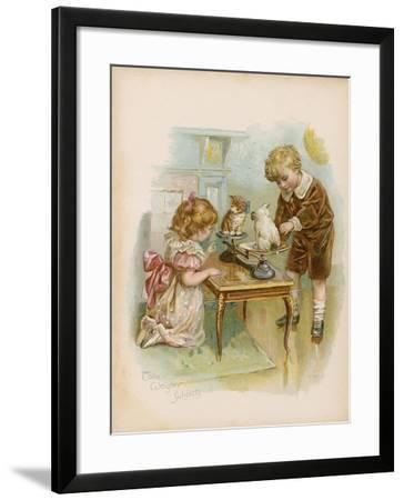Two Weighty Subjects--Framed Giclee Print