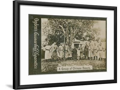 A Group of Chinese Boxers--Framed Photographic Print