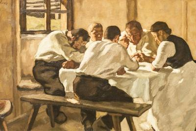 Lunch, C.1910-Albin Egger-lienz-Stretched Canvas Print