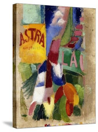 Study of the Team from Cardiff, 1907-13-Robert Delaunay-Stretched Canvas Print