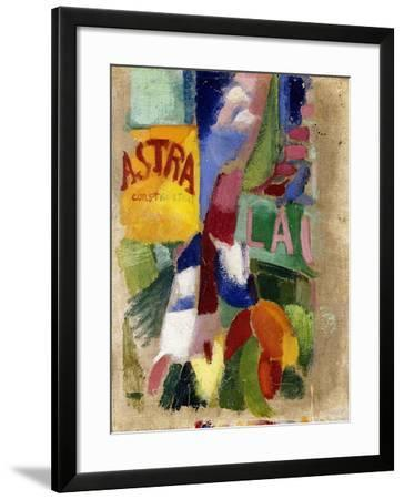 Study of the Team from Cardiff, 1907-13-Robert Delaunay-Framed Giclee Print