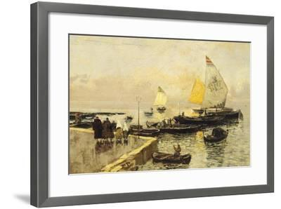 Coal Boats in Chioggia-Mose Bianchi-Framed Giclee Print